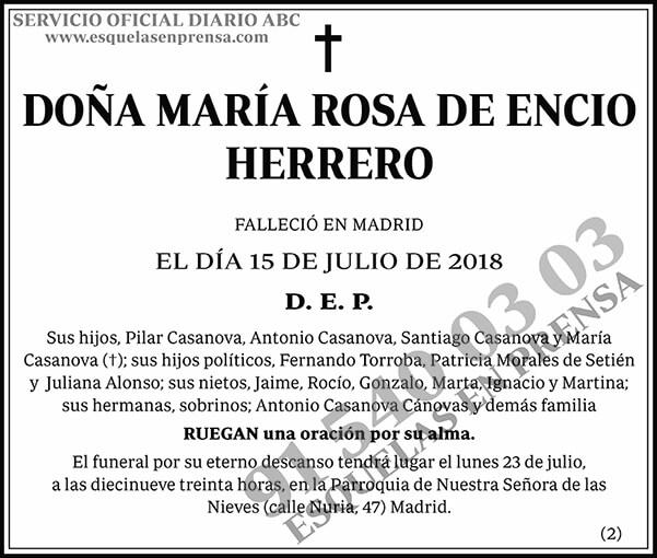 María Rosa de Encio Herrero